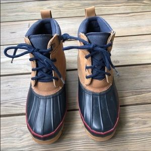 Land's End Leather Duck Boots